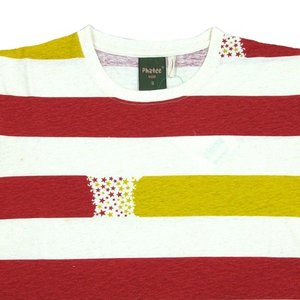 Phatee (ファッティー) ETERNI TEE PRINTED ヘンプコットン ショートスリーブ Tシャツ / STAR BORDER RED|greenplanet|02
