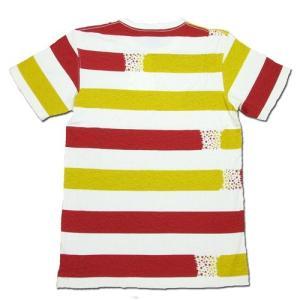 Phatee (ファッティー) ETERNI TEE PRINTED ヘンプコットン ショートスリーブ Tシャツ / STAR BORDER RED|greenplanet|03