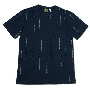 Phatee (ファッティー) ETERNI TEE PRINTED ヘンプコットン ショートスリーブ Tシャツ / WORD NAVY|greenplanet