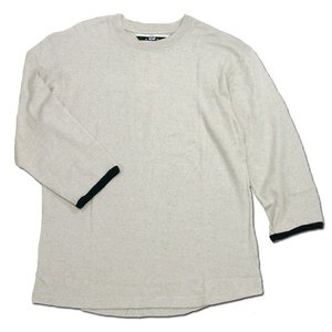 Phatee (ファッティー) TWINKLE SPERIOR ヘンプコットン 7分袖 Tシャツ / OATMEAL|greenplanet