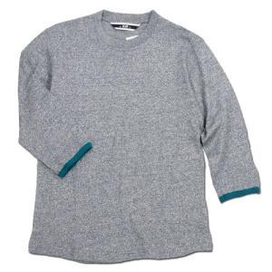 Phatee (ファッティー) TWINKLE SPERIOR ヘンプコットン 7分袖 Tシャツ / NAVY|greenplanet