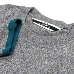 Phatee (ファッティー) TWINKLE SPERIOR ヘンプコットン 7分袖 Tシャツ / NAVY greenplanet 03