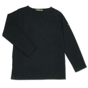 cobano (コバノ) SUPERIOR BOAT L/S TEE ヘンプコットン レディース ボートネック Tシャツ / BLACK|greenplanet
