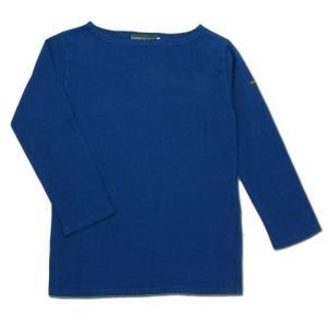 cobano (コバノ) SUPERIOR BOAT L/S TEE ヘンプコットン レディース ボートネック Tシャツ / NAVY BLUE|greenplanet