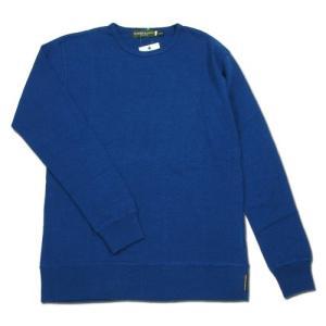 Phatee (ファッティー) SUPERIOR CREW L/S TEE ヘンプコットン ロングスリーブ Tシャツ / NAVY BLUE|greenplanet