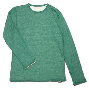Phatee (ファッティー) W FACE LONG TEE リネン ヘンプコットン リバーシブル ロングスリーブTシャツ / GREEN|greenplanet