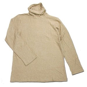 Phatee (ファッティー) O/C PILE TURTLE TEE オーガニックコットン パイル ロングスリーブ タートルネック Tシャツ / BEIGE|greenplanet