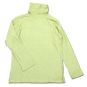 Phatee (ファッティー) O/C PILE TURTLE TEE オーガニックコットン パイル ロングスリーブ タートルネック Tシャツ / GREEN|greenplanet