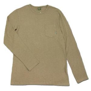 Phatee (ファッティー) L/S POCKET TEE ヘンプコットン ポケット付き ロングスリーブ Tシャツ / BEIGE AD|greenplanet
