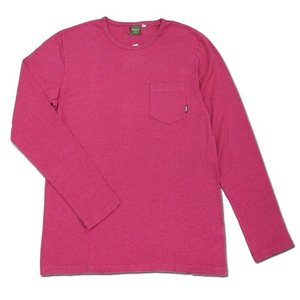 Phatee (ファッティー) L/S POCKET TEE ヘンプコットン ポケット付き ロングスリーブ Tシャツ / MAGENTA|greenplanet