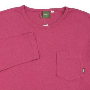 Phatee (ファッティー) L/S POCKET TEE ヘンプコットン ポケット付き ロングスリーブ Tシャツ / MAGENTA|greenplanet|02