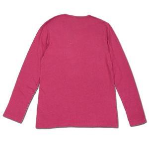 Phatee (ファッティー) L/S POCKET TEE ヘンプコットン ポケット付き ロングスリーブ Tシャツ / MAGENTA|greenplanet|03