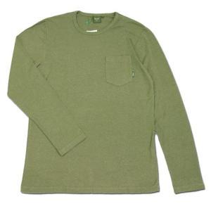 Phatee (ファッティー) L/S POCKET TEE ヘンプコットン ポケット付き ロングスリーブ Tシャツ / OLIVE AD|greenplanet