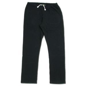 cobano (コバノ) BORDER SOFT PANTS ヘンプコットン レディース テーパード スウェットパンツ / BLACK|greenplanet