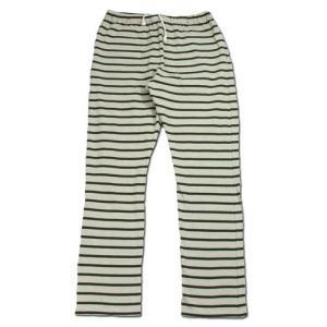 cobano (コバノ) BORDER SOFT PANTS ヘンプコットン レディース テーパード スウェットパンツ / BORDER|greenplanet