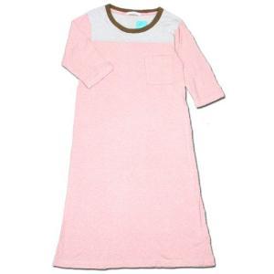 cobano (コバノ) FB TEE OP 2/3 スリーブ フットボール Tシャツ ワンピース / PINK|greenplanet