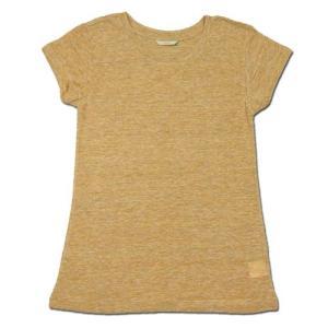 cobano (コバノ) SPROUT TEE リネン レディース フレンチスリーブTシャツ / YELLOW|greenplanet