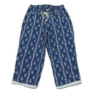 cobano (コバノ) KHADI CROPPED PANTS カディコットン レディース クロップド イージーパンツ / BLUE|greenplanet