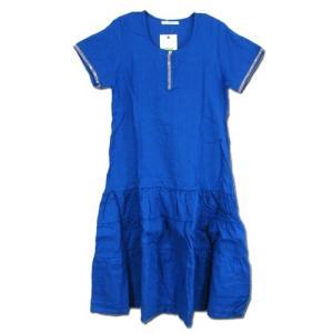 cobano (コバノ) HATA DRESS リネン フレア ワンピース / BLUE|greenplanet
