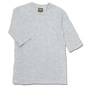 Phatee KIDS (ファッティー キッズ) KIDS TEE OP キッズ ヘンプコットン 7分袖 Tシャツ ワンピース / GREY|greenplanet