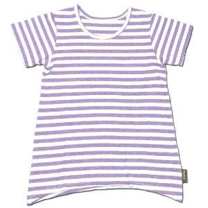 Phatee KIDS (ファッティー キッズ) KIDS TEE OP キッズ Tシャツ ワンピース / PURPLE BORDER|greenplanet
