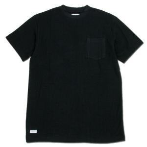 BLACKCAT SURPLUS (ブラックキャットサープラス) POCKETS SHORT SLEEVE ヘンプオーガニックコットン ポケット Tシャツ / BLACK|greenplanet