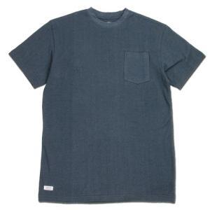 BLACKCAT SURPLUS (ブラックキャットサープラス) POCKETS SHORT SLEEVE ヘンプオーガニックコットン ポケット Tシャツ / GREY|greenplanet