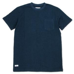 BLACKCAT SURPLUS (ブラックキャットサープラス) POCKETS SHORT SLEEVE ヘンプオーガニックコットン ポケット Tシャツ / NAVY|greenplanet