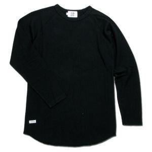BLACKCAT SURPLUS (ブラックキャットサープラス) LAYERS LONG SLEEVE ヘンプオーガニックコットン ラグラン ロングスリーブTシャツ / BLACK|greenplanet