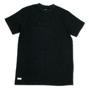 BLACKCAT SURPLUS (ブラックキャットサープラス) CREW SS HVY / WT ヘンプオーガニックコットン クルーネック Tシャツ / BLACK|greenplanet