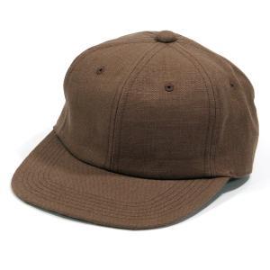 BLACKCAT SURPLUS (ブラックキャットサープラス) FARMERS CAP ヘンプオーガニックコットン ベースボールキャップ / BROWN|greenplanet
