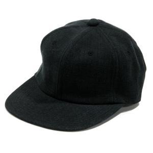 BLACKCAT SURPLUS (ブラックキャットサープラス) FARMERS CAP ヘンプオーガニックコットン ベースボールキャップ / BLACK|greenplanet