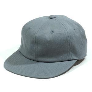 BLACKCAT SURPLUS (ブラックキャットサープラス) FARMERS CAP ヘンプオーガニックコットン ベースボールキャップ / GREY TWILL|greenplanet