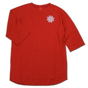 Tokyo Hemp Connection (トウキョウヘンプコネクション) BASEBALL TEE EMB ラグラン ベースボール Tシャツ / RED|greenplanet