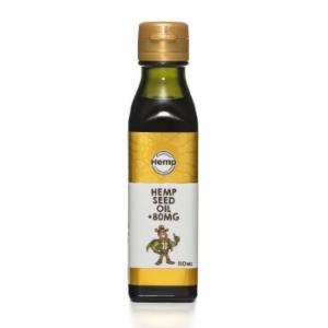 Hemp Foods Japan (ヘンプフーズジャパン) Hemp Seed Oil + 80MG ヘンプシードオイル プラス80 食用麻の実油 110ml|greenplanet
