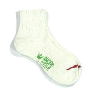 A HOPE HEMP (アホープヘンプ) HEMP SOCKS 2 メンズ レディース ヘンプコットン ソックス 靴下 / NATURAL greenplanet