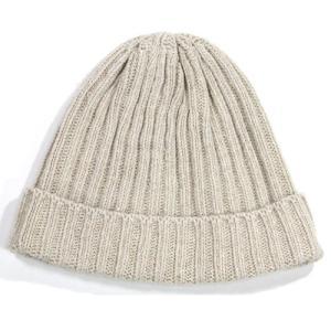 A HOPE HEMP (アホープヘンプ) RIB WATCH CAP  ヘンプコットン ニットキャップ ニット帽 / NAT greenplanet