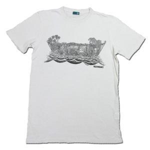 RESTANDART (リスタンダート) JUNGOCEAN T-SHIRTS ヘンプ オーガニックコットン Tシャツ / WHITE|greenplanet