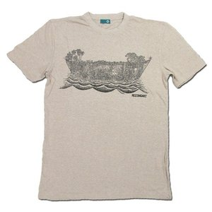 RESTANDART (リスタンダート) JUNGOCEAN T-SHIRTS ヘンプ オーガニックコットン Tシャツ / SAND BLACK|greenplanet