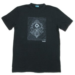 RESTANDART (リスタンダート) SPACE OWL T-SHIRTS ヘンプ オーガニックコットン Tシャツ / BLACK|greenplanet