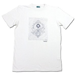 RESTANDART (リスタンダート) SPACE OWL T-SHIRTS ヘンプ オーガニックコットン Tシャツ / WHITE|greenplanet