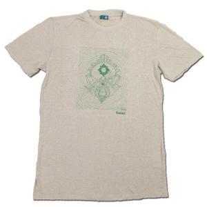 RESTANDART (リスタンダート) SPACE OWL T-SHIRTS ヘンプ オーガニックコットン Tシャツ / SAND|greenplanet