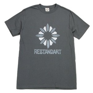 RESTANDART (リスタンダート) LOGO OC T-SHIRTS オーガニックコットン ロゴ Tシャツ / GREY|greenplanet
