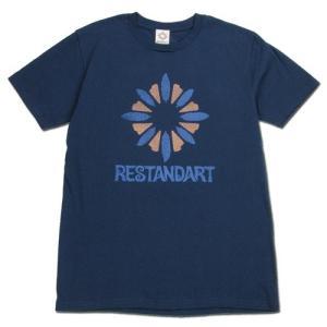 RESTANDART (リスタンダート) LOGO OC T-SHIRTS オーガニックコットン ロゴ Tシャツ / NAVY1|greenplanet