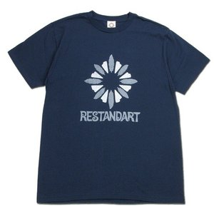 RESTANDART (リスタンダート) LOGO OC T-SHIRTS オーガニックコットン ロゴ Tシャツ / NAVY2|greenplanet