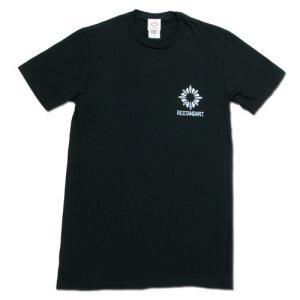 RESTANDART (リスタンダート) SMALL LOGO OC T-SHIRTS オーガニックコットン ロゴ Tシャツ / BLACK|greenplanet