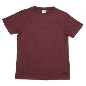 A HOPE HEMP (アホープヘンプ) REGULAR S/S TEE ヘンプコットン ショートスリーブ Tシャツ / BURGUNDY|greenplanet