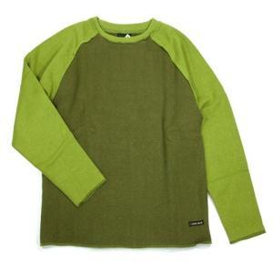 A HOPE HEMP (アホープヘンプ) UNIQUE CUT SWEAT ヘンプコットン ロングスリーブ スウェット シャツ トレーナー / SAGE GREEN x B.GREEN|greenplanet