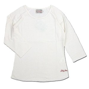A HOPE HEMP (アホープヘンプ) RAGLAN 3/4 WOMEN'S TEE  ヘンプコットン レディース ラグラン 7分袖 Tシャツ / NATURAL|greenplanet