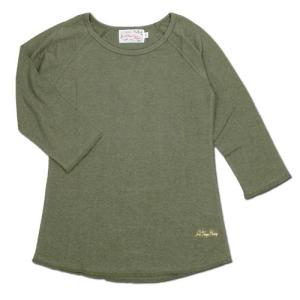 A HOPE HEMP (アホープヘンプ) RAGLAN 3/4 WOMEN'S TEE  ヘンプコットン レディース ラグラン 7分袖 Tシャツ / D.SAGE|greenplanet